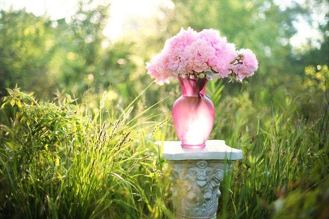 Wazon z kwiatami